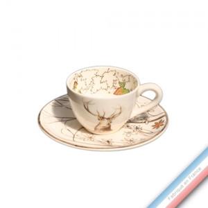 Collection CHAMBORD - Tasse et soucoupe café - 0,05L / 11,5cm -  Lot de 4