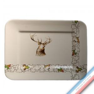 Collection CHAMBORD - Plat rectangulaire 'Moyen' - 37,5 x 28,5 cm -  Lot de 1