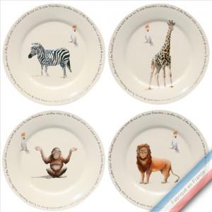 Collection POINT DE VUE ECLAIRE - Assiette dessert - Diam  21.5 cm -  Lot de 4