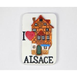 """Magnet décoratif """"Maison alsacienne"""""""