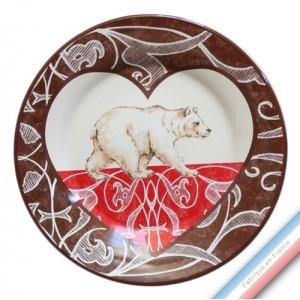 Collection DENTELLES - Assiette plate - Diam  27 cm -  Lot de 4