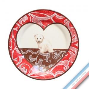 Collection DENTELLES - Assiette dessert - Diam  21.5 cm -  Lot de 4