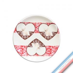 Collection DENTELLES - Assiette pain - Diam  15.5 cm -  Lot de 4