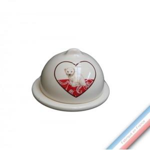 Collection DENTELLES - Confiturier 'Petit' - H 8 - Diam 9 cm -  Lot de 2