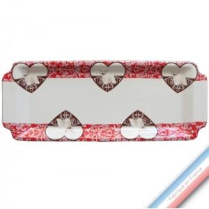 Collection DENTELLES - Plat cake - 38 x 15 cm -  Lot de 1