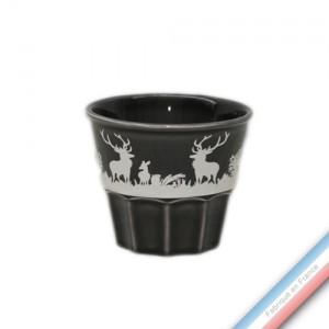 Collection PAPIERS DECOUPES BLANC fond NOIR - Pot confiture - H 8 cm - 0,2 L -  Lot de 1