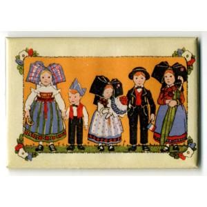 Magnet Hansi 'Frise 4 Enfants Alsaciens'