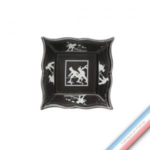 Collection PAPIERS DECOUPES BLANC fond NOIR - Vide poche carre - 12 x 12 cm -  Lot de 1