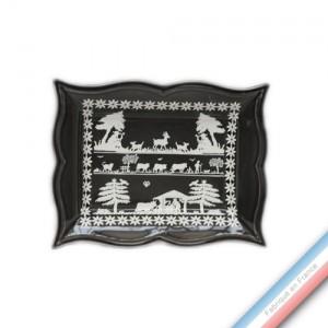 Collection PAPIERS DECOUPES BLANC fond NOIR - Vide poche rectangle - 21 x 17 cm -  Lot de 1