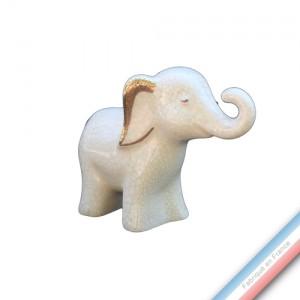 Collection IRRESISTIBLES - Eléphanteau Ivoire - H 9 cm -L11 cm -  Lot de 1