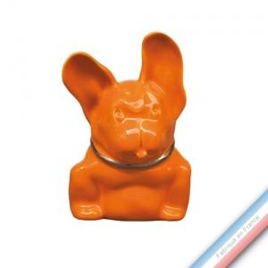 Collection MAISON - Azor Orange Platine - H 14 x L 9 cm -  Lot de 1