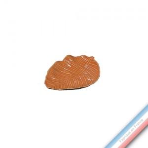 Collection SPA - Feuille xanadu Mandarine - L 23 cm -  Lot de 1