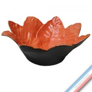 Collection SPA - Saladier xanadu Mandarine - H 14 - Diam  39 cm -  Lot de 1