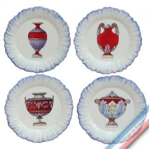 Collection ECLECTICA - Coffret 4 assiettes dessert Vase - 23 x 23 x 6 cm -  Lot de 1