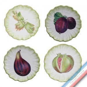 Collection ECLECTICA - Coffret 4 assiettes pain fruits - 17 x 17 x5 cm -  Lot de 1