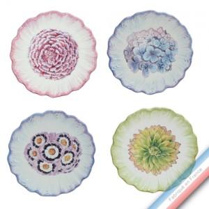 Collection ECLECTICA - Coffret 4 assiettes pain bouquets - 17 x 17 x5 cm -  Lot de 1