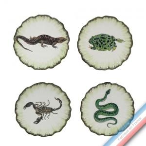 Collection ECLECTICA - Coffret 4 assiettes pain frissons - 17 x 17 x5 cm -  Lot de 1