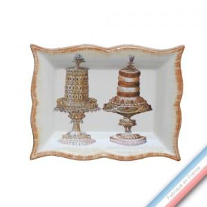 Collection ECLECTICA - Coffret vide poche rectangle gâteaux - 21 x 17 x 3,6 cm -  Lot de 1