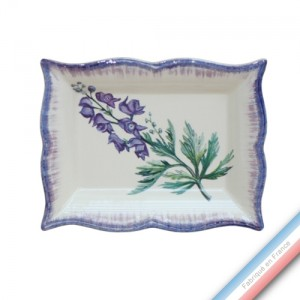 Collection ECLECTICA - Coffret vide poche rectangle Aconite bleue - 21 x 17 x 3,6 cm -  Lot de 1
