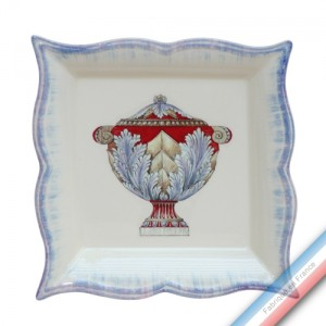 Collection ECLECTICA - Coffret vide poche carré 22 cm Vase - 22 x 22 x 3,5 cm -  Lot de 1