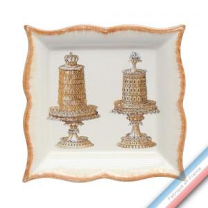 Collection ECLECTICA - Coffret vide poche carré 22 cm gâteaux - 22 x 22 x 3,5 cm -  Lot de 1