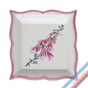 Collection ECLECTICA - Coffret vide poche carré 22 cm Digitale rose - 22 x 22 x 3,5 cm -  Lot de 1