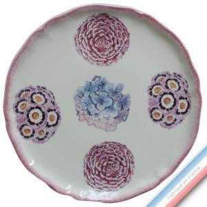 Collection ECLECTICA - Coffret plat tarte bouquets - 36 x 36 x 3 cm -  Lot de 1