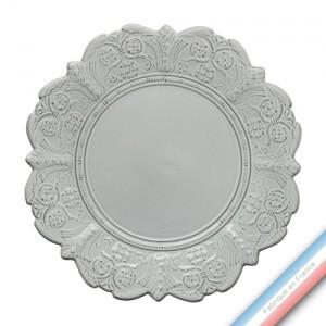 Collection BERAIN - Assiette plate berain - Diam  28 cm -  Lot de 4