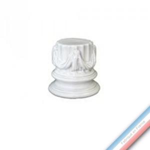 Collection CABINET CURIOSITE - Colonne pour statuette et Vase - 9,5 x 9 cm -  Lot de 1