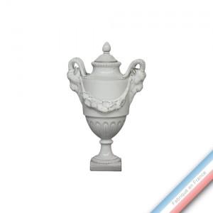 Collection CABINET CURIOSITE - Petite urne aux 2 têtes de boucs  - H. 22 cm -  Lot de 1