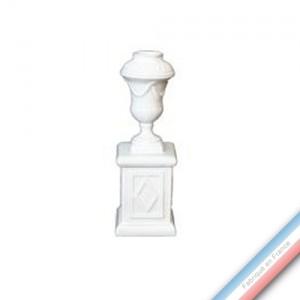 Collection CABINET CURIOSITE - Bougeoirs sur socle  - H. 18 cm -  Lot de 1