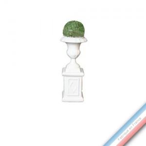 Collection CABINET CURIOSITE - Buis boule sur socle  - H. 23 cm -  Lot de 1