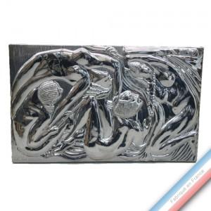 """Collection ART DECO """"1920"""" - Plaque Egyptienne Métal - H 50 x L 80 cm -  Lot de 1"""