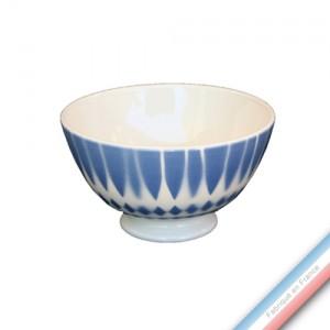 """Collection FERME """"1950"""" - Bol à pied 20 Ferme losange bleu - 0,40 L -  Lot de 4"""