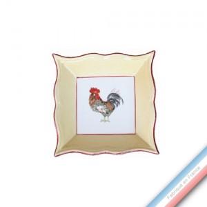 Collection COUR NORMANDE PAILLE - Vide poche carre - 12 x 12 cm -  Lot de 1