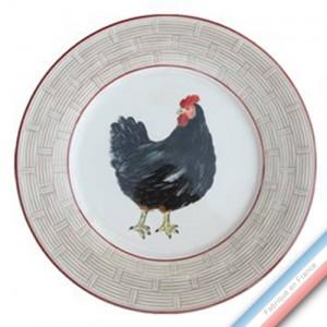 Collection BOCAGE - Assiette plate - Diam  26,5 cm -  Lot de 4