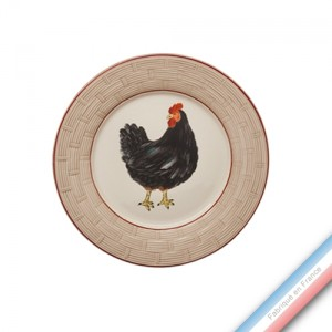 Collection BOCAGE - Assiette dessert - Diam  21 cm -  Lot de 4