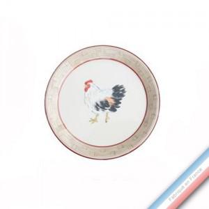 Collection BOCAGE - Assiette canapé - Diam  15 cm -  Lot de 4