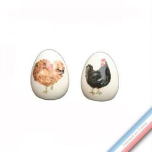 Collection BOCAGE - Sel et poivre - H. 6 cm -  Lot de 1