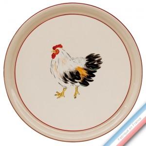 Collection BOCAGE - Plat tarte - Diam  32 cm -  Lot de 1