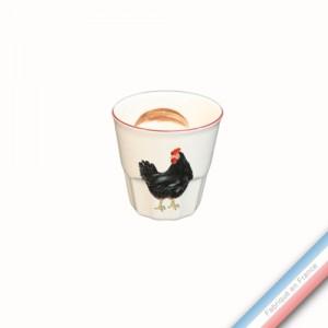 Collection BOCAGE - Expresso - H 6 cm  - 0,09 L -  Lot de 4