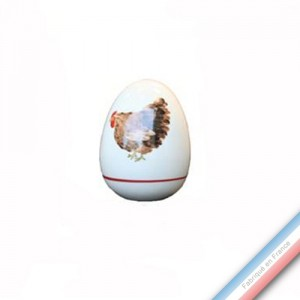 Collection BOCAGE - Oeuf 'Petit' - H 7,5 cm -  Lot de 1