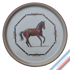Collection CHANTILLY - Plat tarte - Diam  32 cm -  Lot de 1