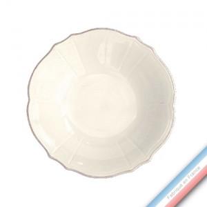 Collection MAINTENON PATINE VANILLE - Assiette creuses pâtes - Diam  21.5 cm -  Lot de 4
