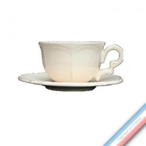 Collection MAINTENON PATINE VANILLE - Tasse et soucoupe thé - 0,20 L / 15,5 cm -  Lot de 4