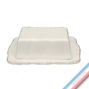 Collection MAINTENON PATINE VANILLE - Beurrier rectangle - 19,5 x 14 cm -  Lot de 1