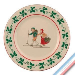 Collection JEUX D'HIVER - Assiette plate - Diam  27 cm -  Lot de 4