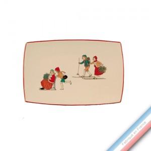 Collection JEUX D'HIVER - Ravier - 21 x 14 cm -  Lot de 2
