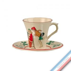 Collection JEUX D'HIVER - Tasse et soucoupe thé - 0,20L / 15 cm -  Lot de 4