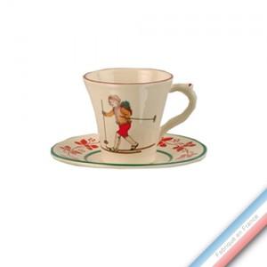 Collection JEUX D'HIVER - Tasse et soucoupe café - 0,05L / 11,5cm -  Lot de 4